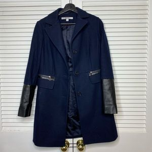 DKNY Blue pea coat